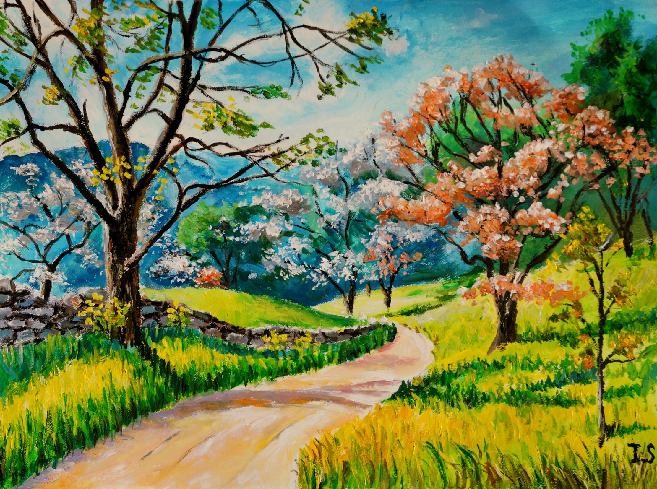chemin | les peintures d'isabelle