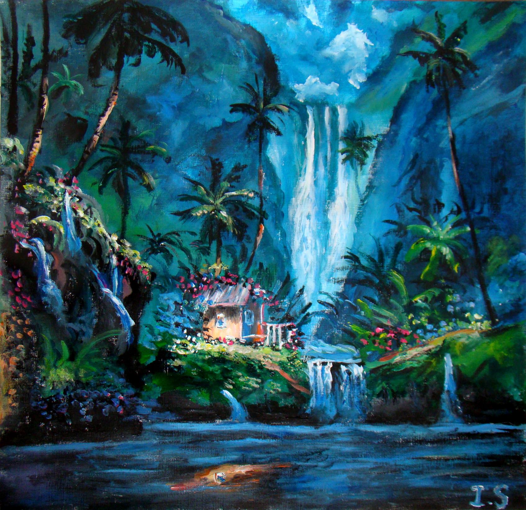 Cascade les peintures d 39 isabelle for Maison cascade