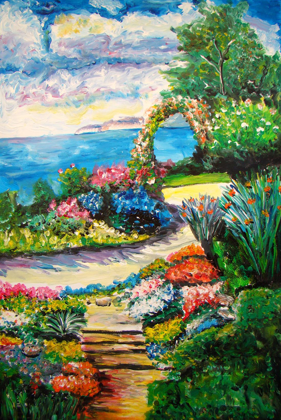 Jardins fleuris les peintures d 39 isabelle for Jardin fleuri