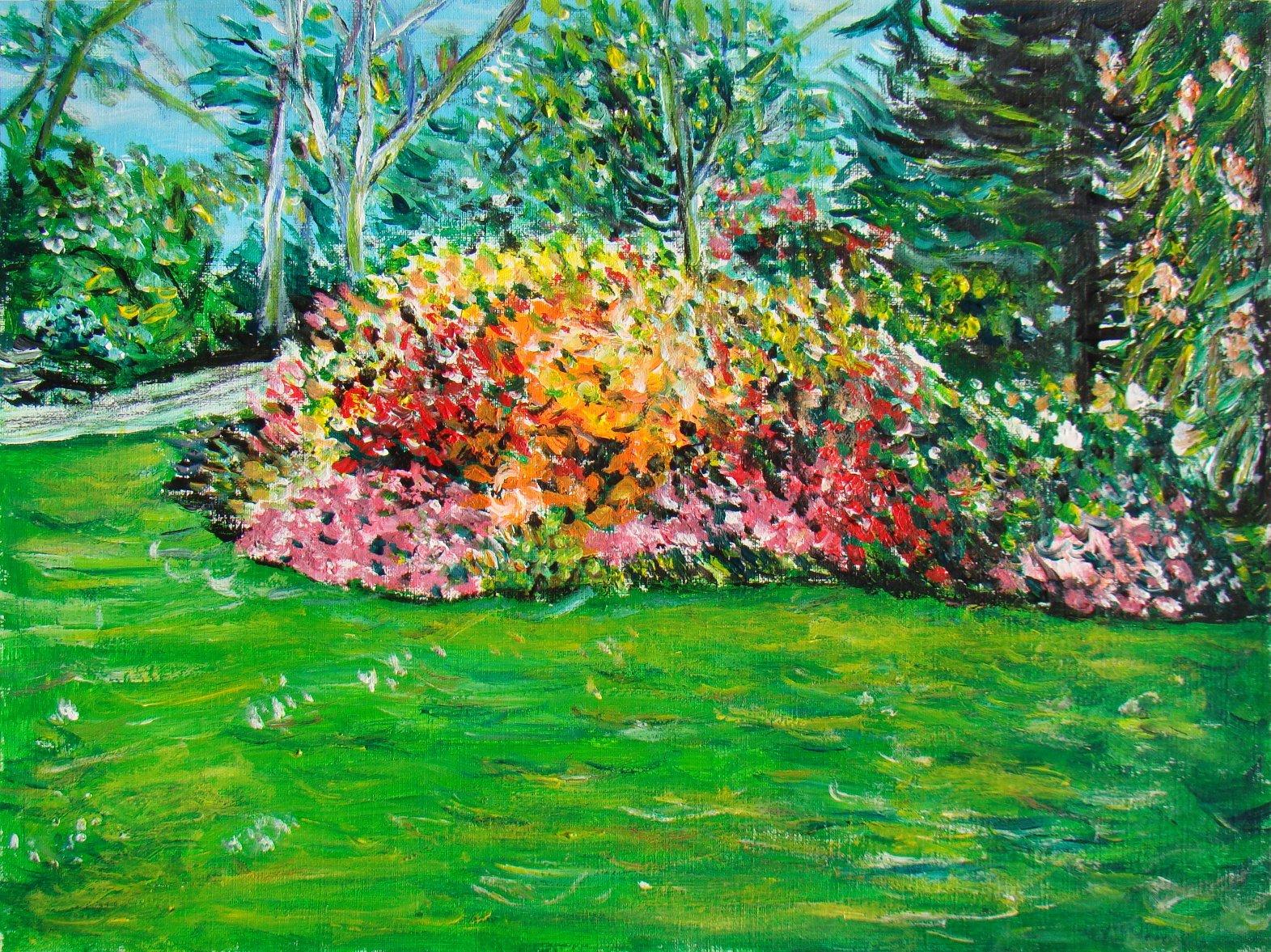 jardins fleuris   les peintures d'isabelle
